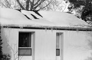 Ice Dam On House