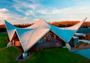 NJ church with standing seam metal roof