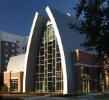 Sykes Chapel uses metal for roof