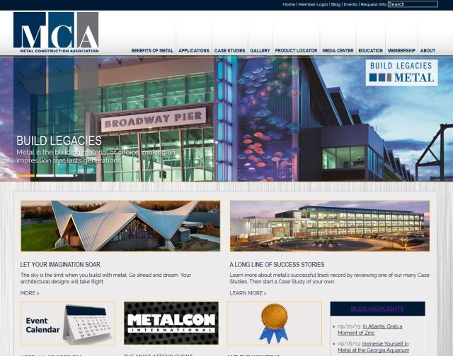 New MCA Website HomePage
