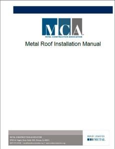 MCA Metal Roof Installation Manual