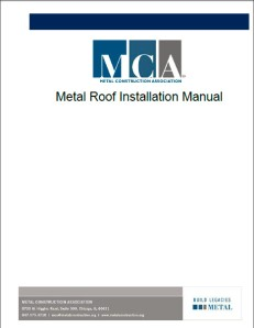 MCA Metal Roof Installation Manual